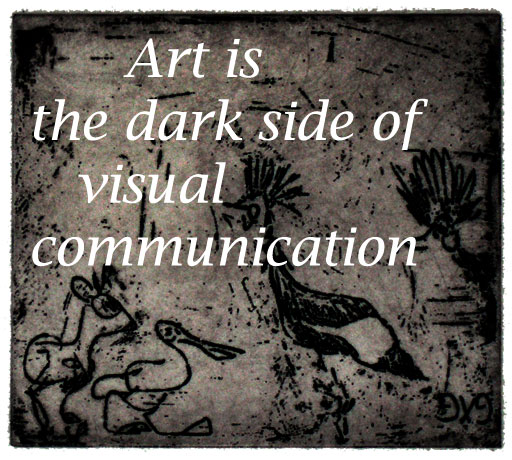 Art is the dark side of visual communication