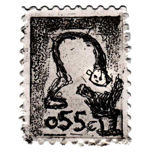 surrealism stamps the drawings theories